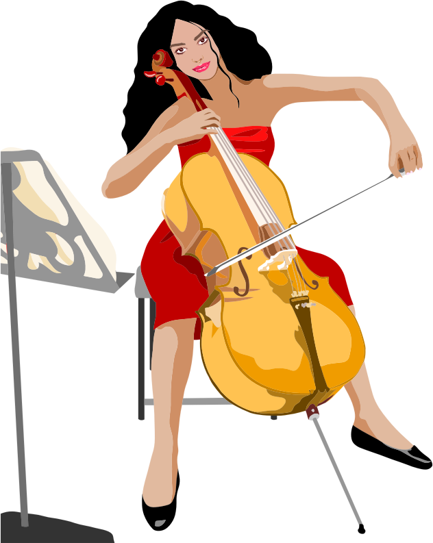 Female Cello Player