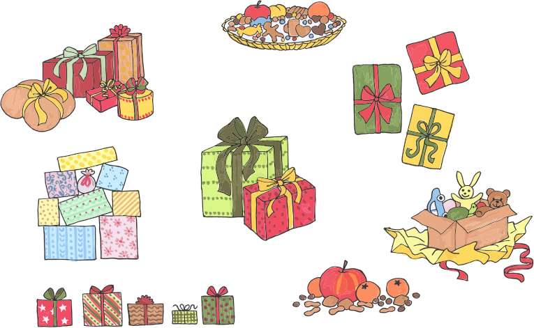 Assortment Of Gifts And Presents