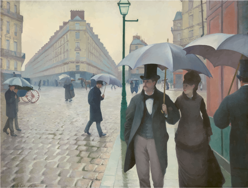 Paris Street in Rainy Weather Gustave Caillebotte