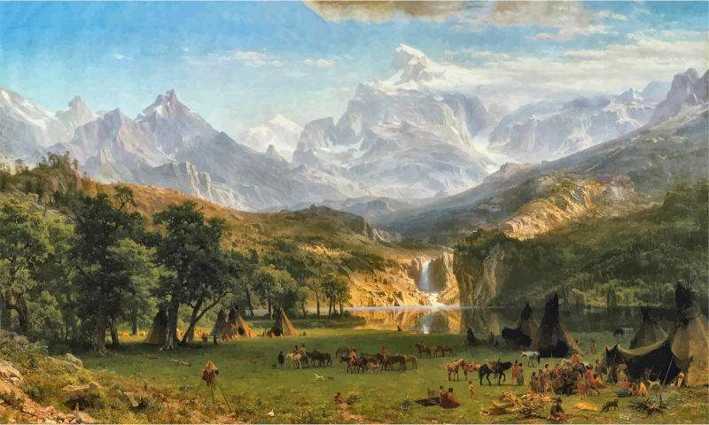 The Rocky Mountains Lander's Peak By Albert Bierstadt Contrast Enhanced