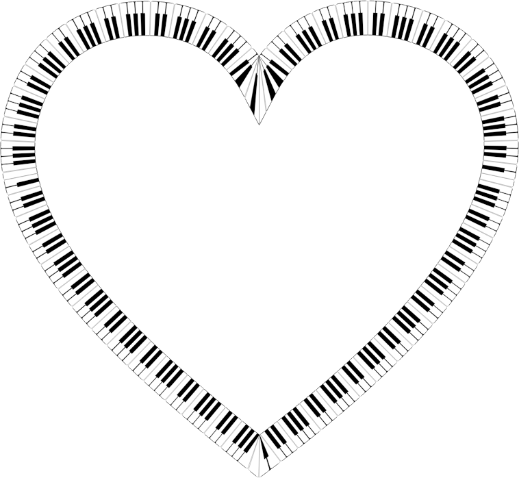 Piano Keys Heart