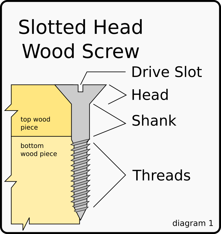 Wood Screw Diagram