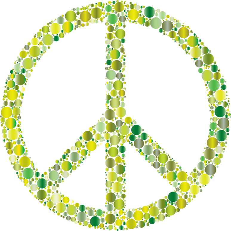 Colorful Circles Peace Sign 9