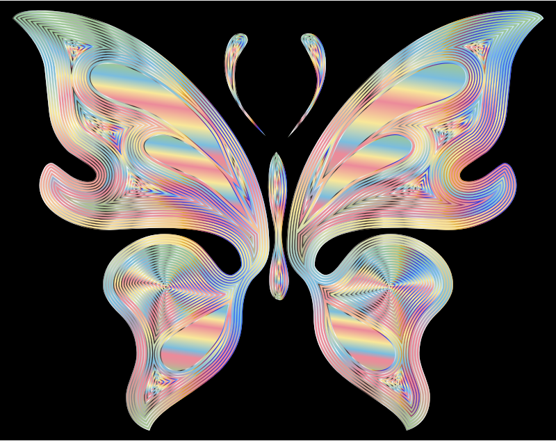 Prismatic Butterfly 17 Variation 3
