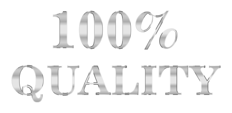 100 Percent Quality Typography Steel No Background