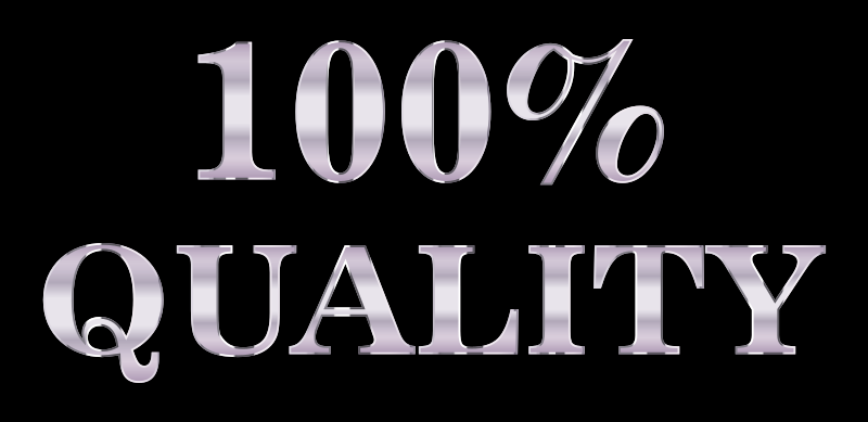 100 Percent Quality Typography Silver