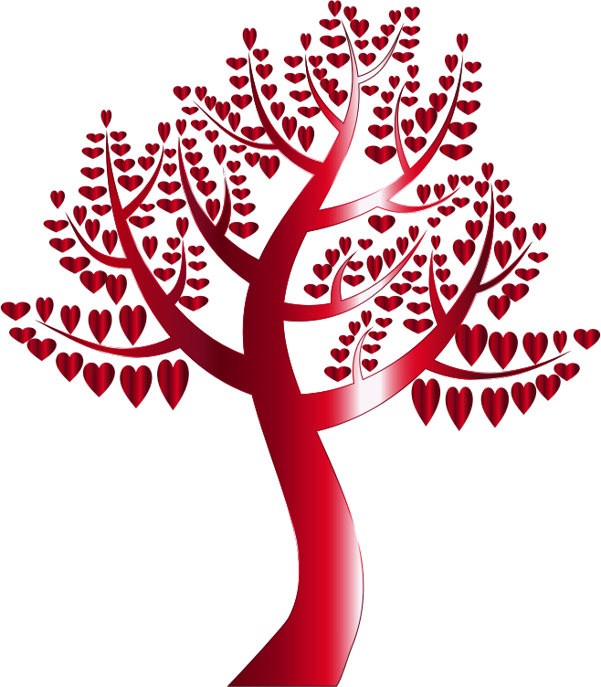 Simple Hearts Tree 11 No Background