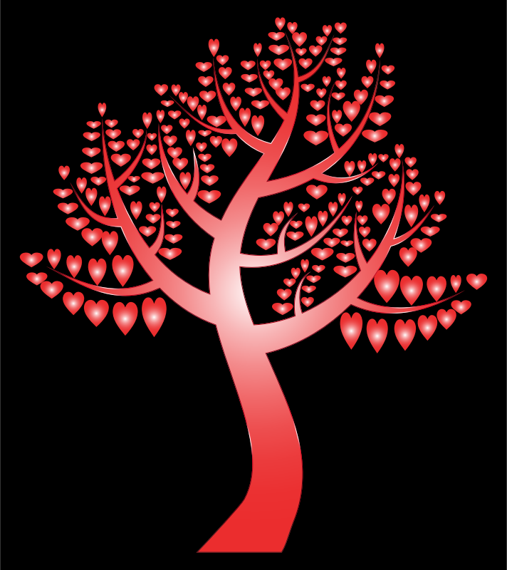 Simple Hearts Tree 12