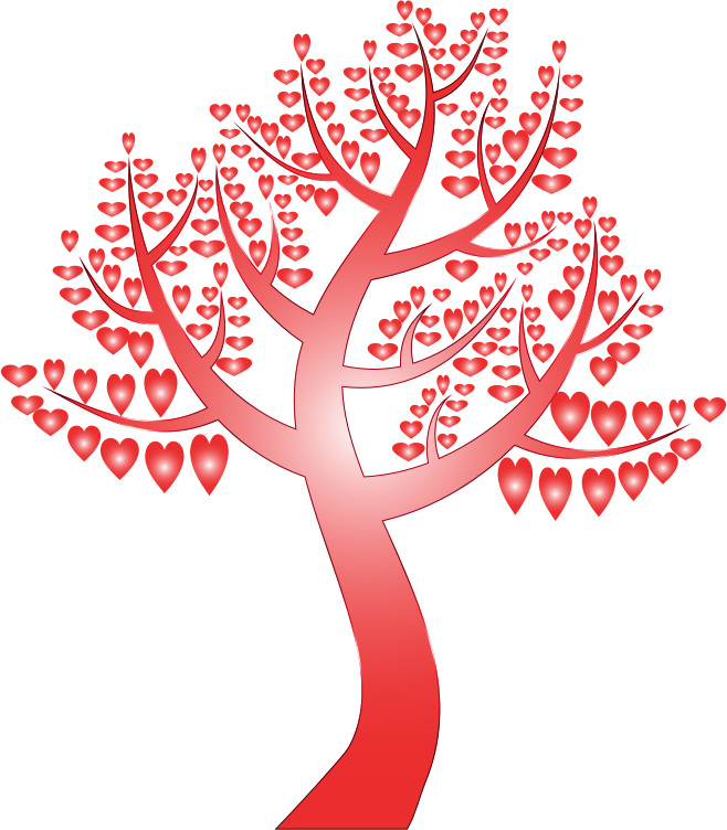 Simple Hearts Tree 12 No Background