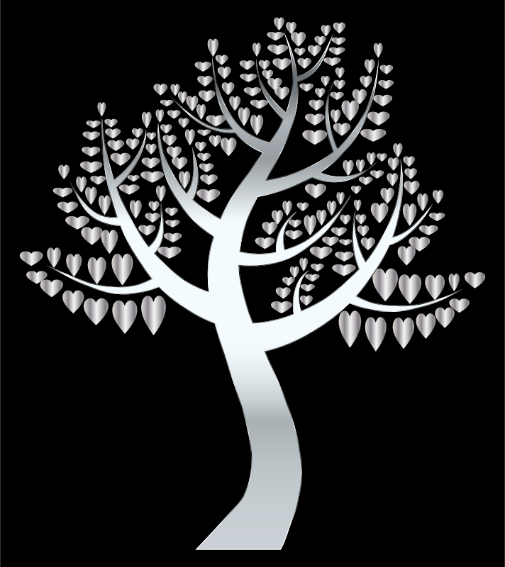 Simple Hearts Tree 13