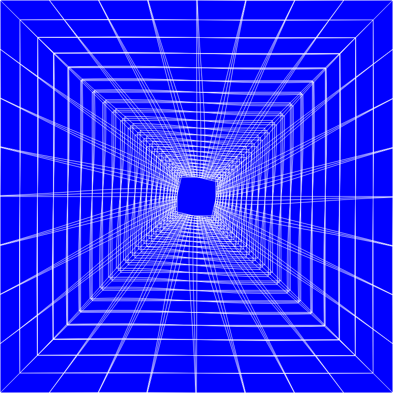 Blue Perspective Grid Distorted 9