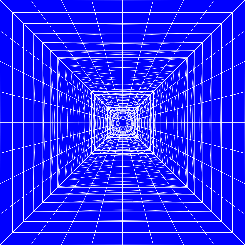 Blue Perspective Grid Distorted 10