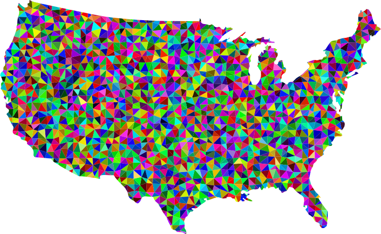 Prismatic Low Poly America