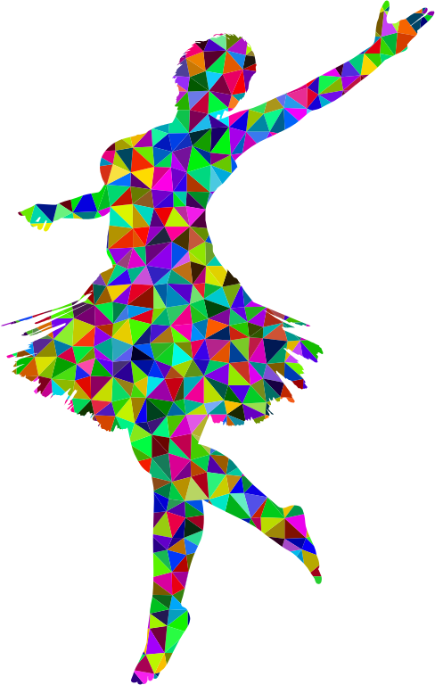 Prismatic Low Poly Ballerina