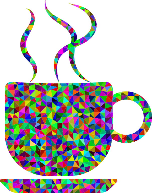 Prismatic Low Poly Coffee Cup