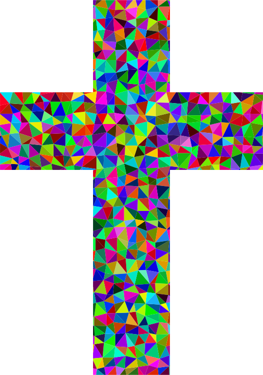 Prismatic Low Poly Cross