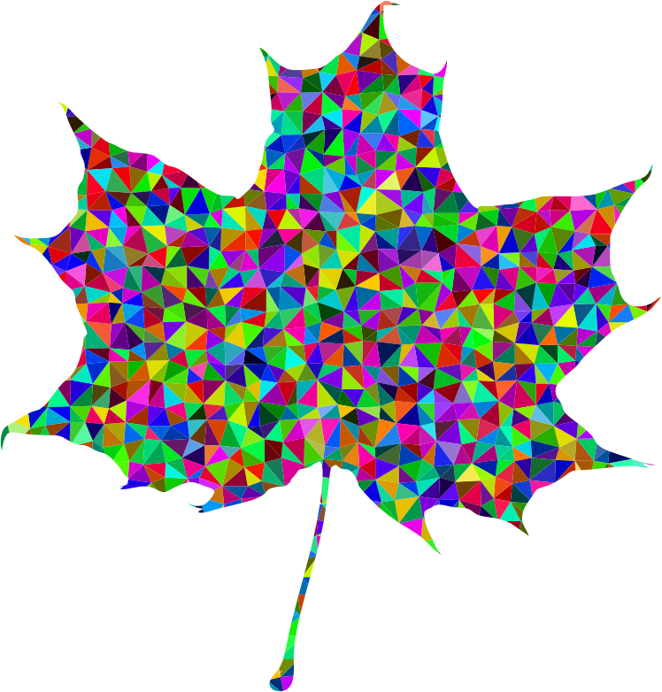 Prismatic Low Poly Maple Leaf