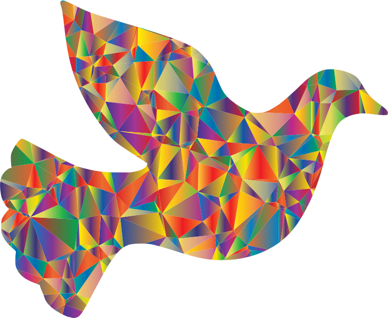Low Poly Peace Dove
