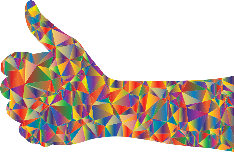 Low Poly Thumbs Up