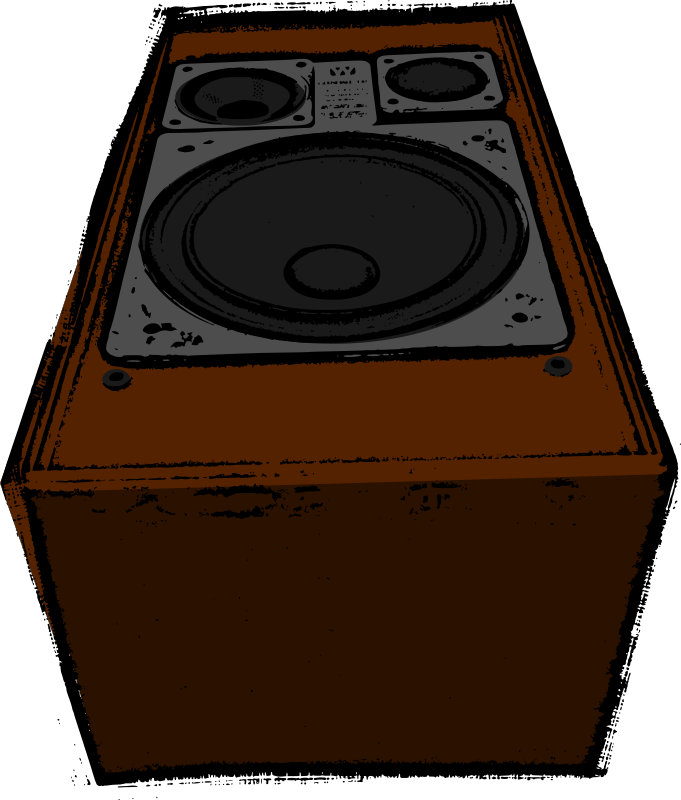 Big old speaker (colour)