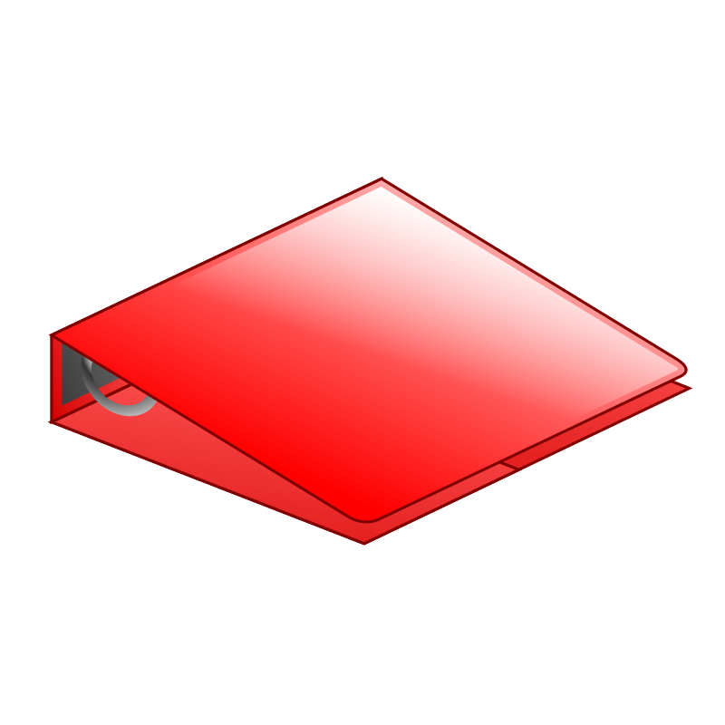 Red 3-ring binder