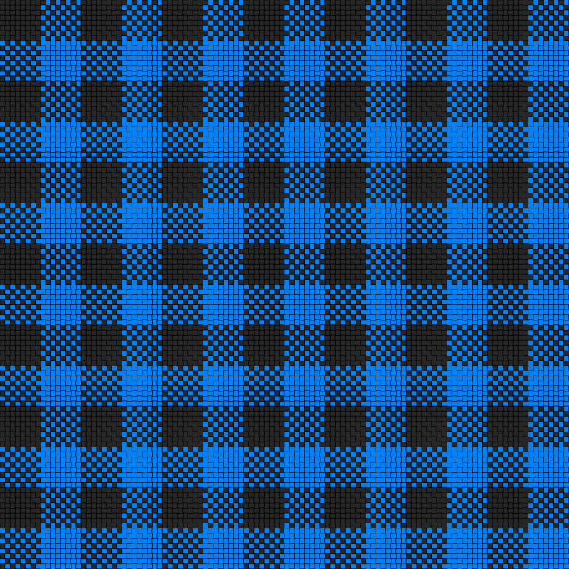 Checker Plaid Cloth Black and Blue