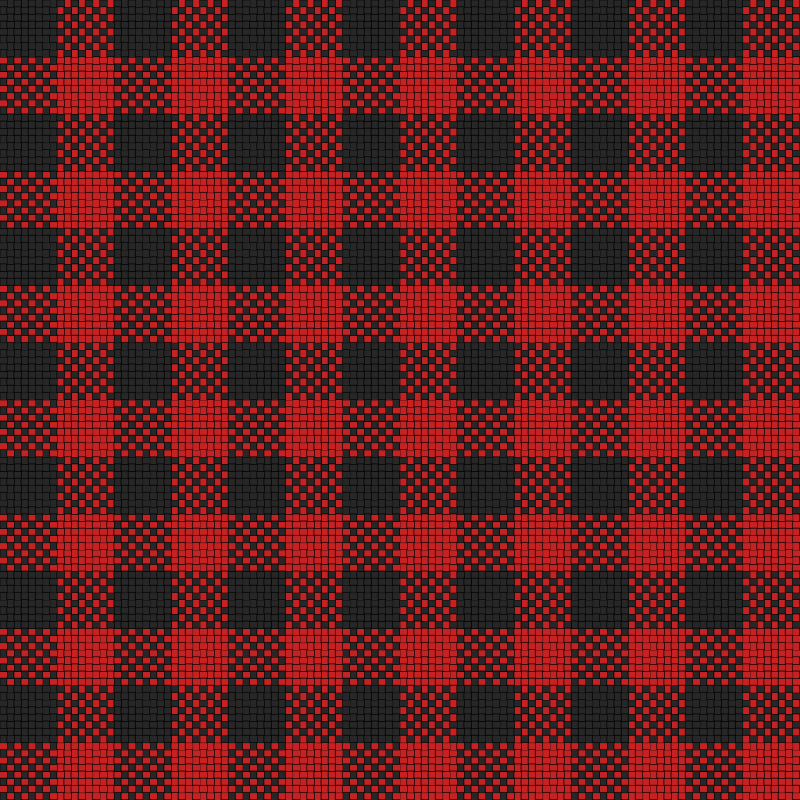 Checker Plaid Cloth Black Red