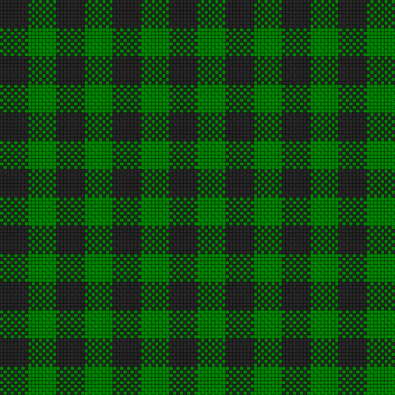 Checker Plaid Cloth Black Green