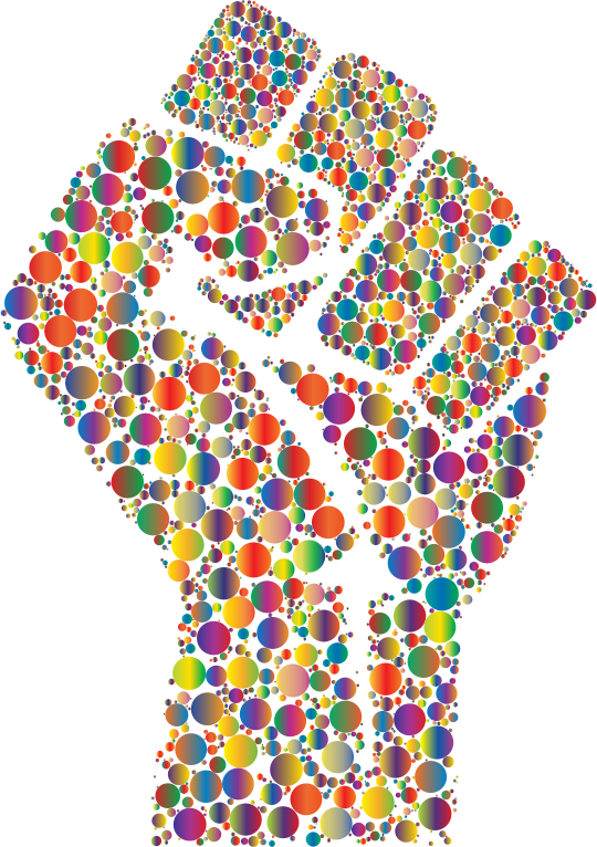 Colorful Fist Circles 6