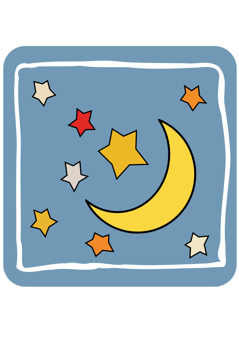 Icon Moon and stars