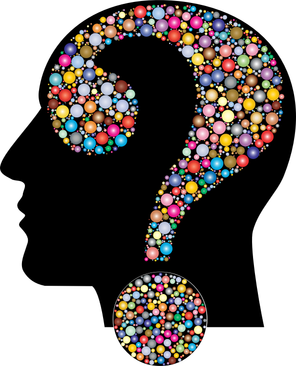 Colorful Question Head Circles 9