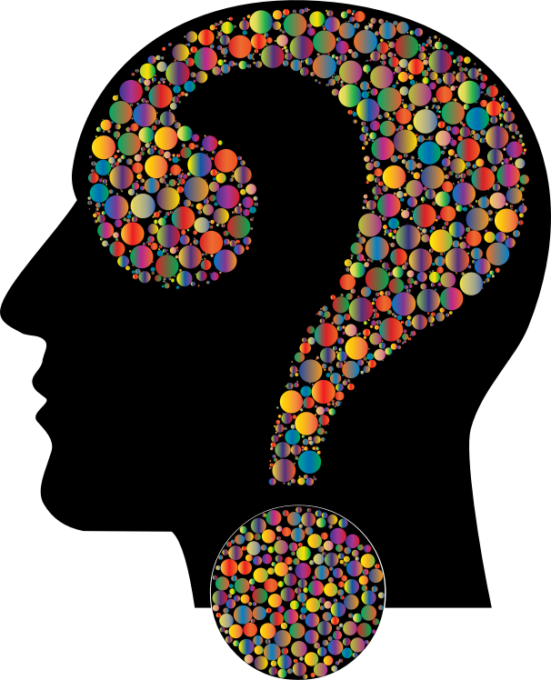 Colorful Question Head Circles 11