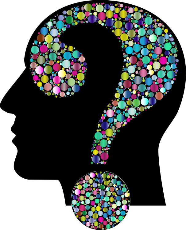 Colorful Question Head Circles 12