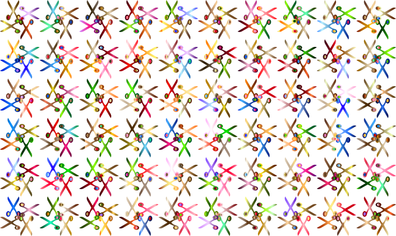 Scissors Pattern No Background