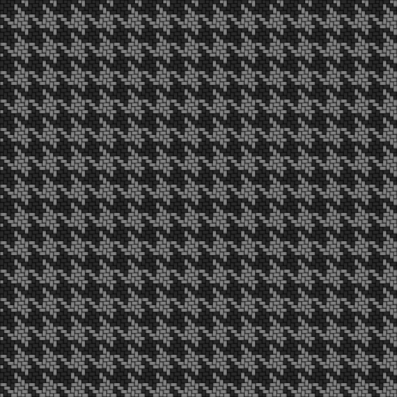 Hounds-tooth Fabric Gray Black