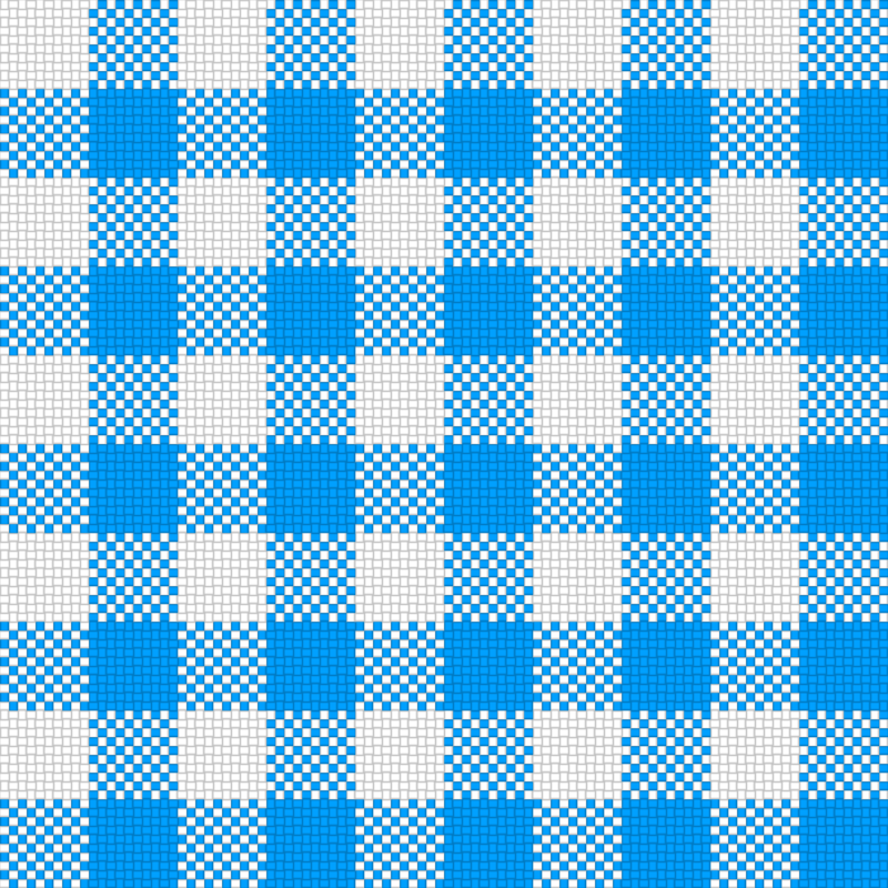 Checker Plaid Cloth Blue White