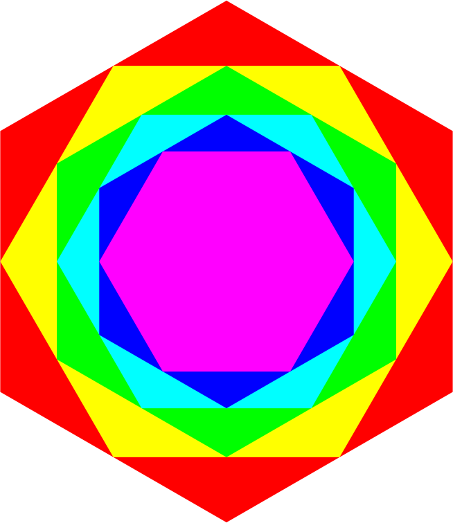 Colorful Hexagons 2-18-2016