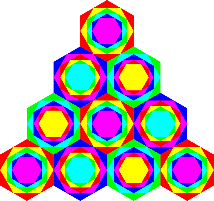Triangle of Hexagons