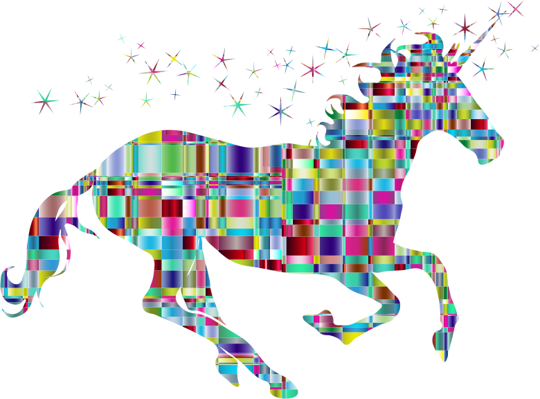 Chromatic Checkered Crystalline Magical Unicorn