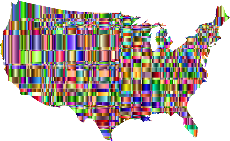Checkered Chromatic US Map