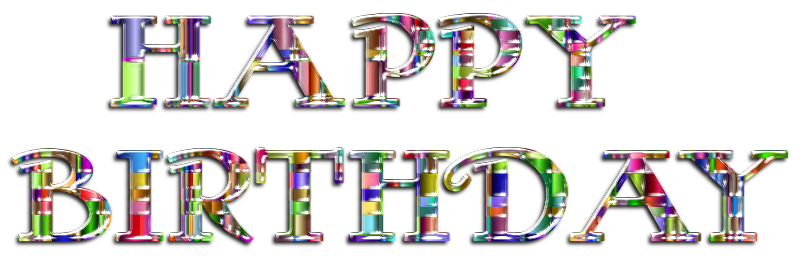 Checkered Chromatic Happy Birthday Typography Enhanced