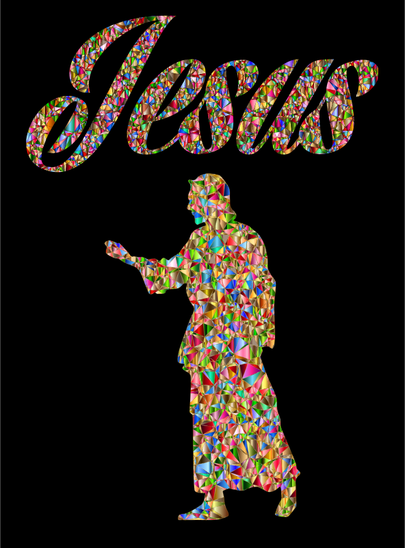 Luminous Chromatic Jesus Christ Typography