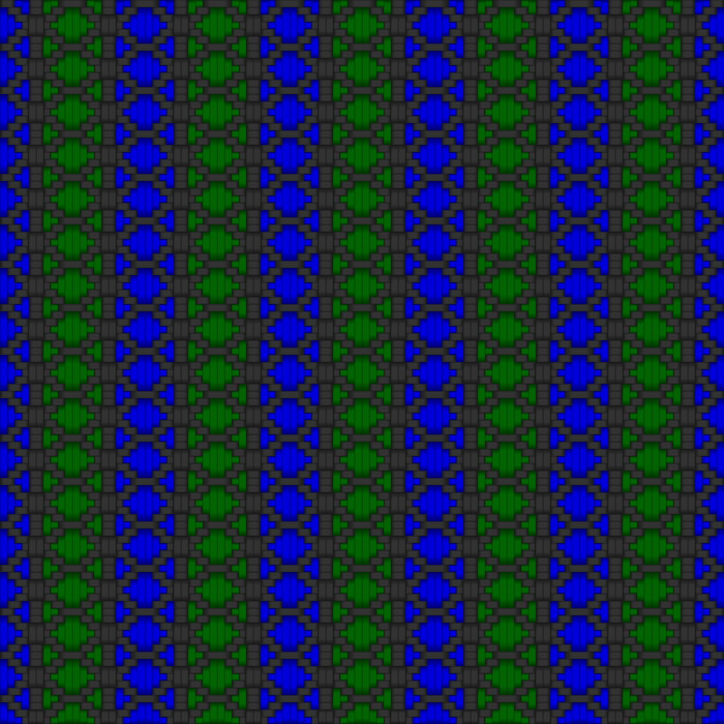 Diamond Woven Fabric Gray Blue Green