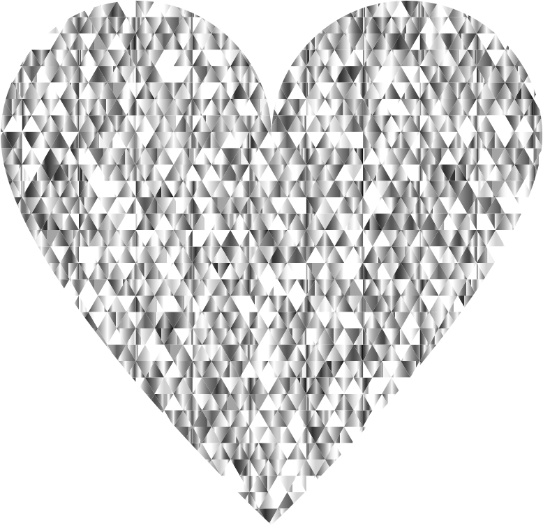 Diamond Gemstone Heart No Background