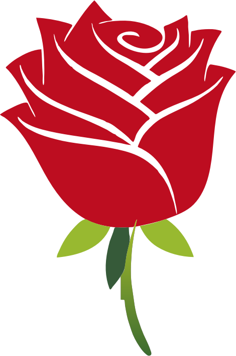 Stylized Rose No Drop Shadow