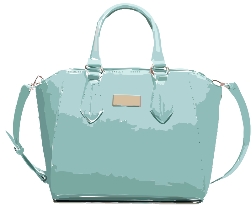 Aqua Leather Handbag No Logo