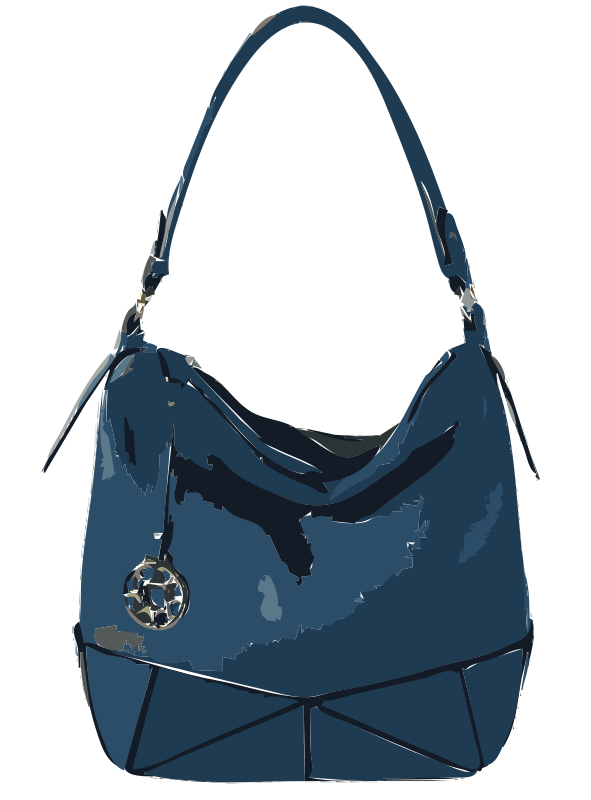 Blue Leather Handbag without logo