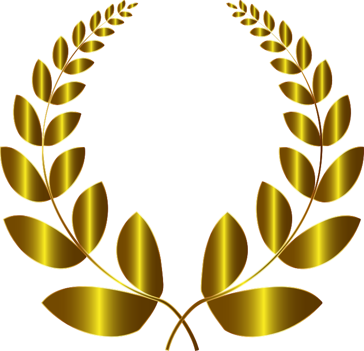 Gold Laurel Wreath 3 No Background