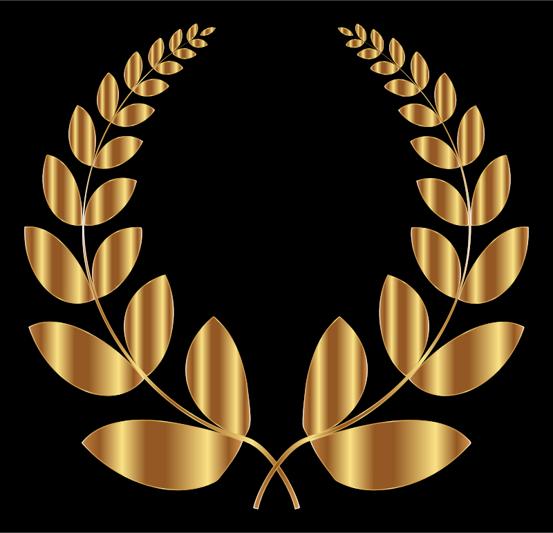 Gold Laurel Wreath 5