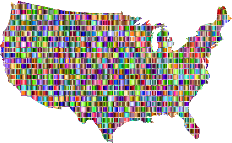 Chromatic Mosaic United States Map